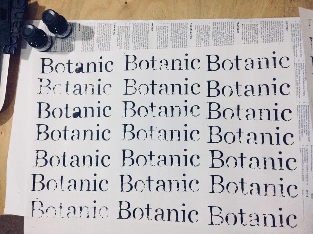 Botanic otisky loga